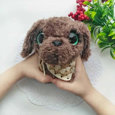 Вязаный щенок амигуруми