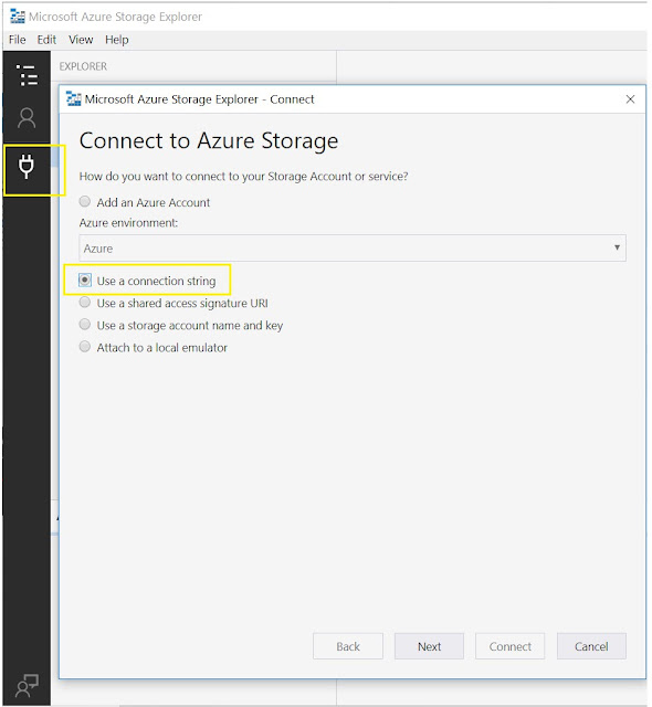 Connect to Azure Storage