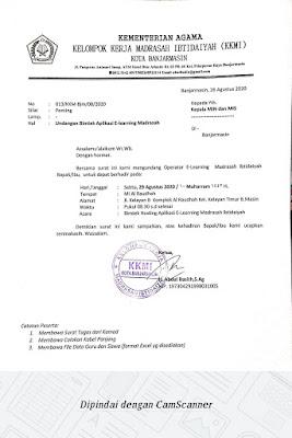 Bimtek Aplikasi E-Learning Madrasah Tahap III - Sabtu 29 Agustus 2020