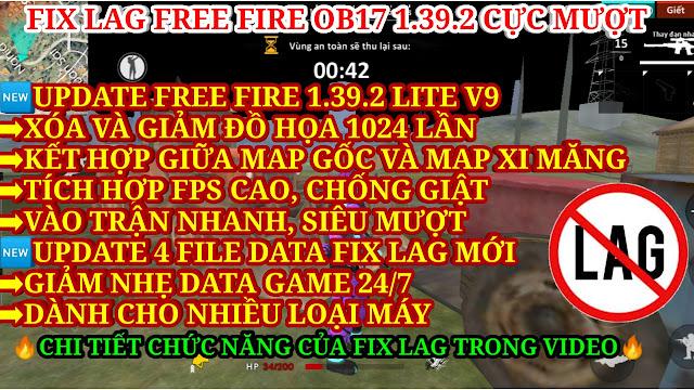 DOWNLOAD APK FREE FIRE 1.39.2 LITE V9 XÓA VÀ GIẢM ĐỒ HỌA KẾT HỢP GIỮA MAP GỐC VÀ MAP XI MĂNG
