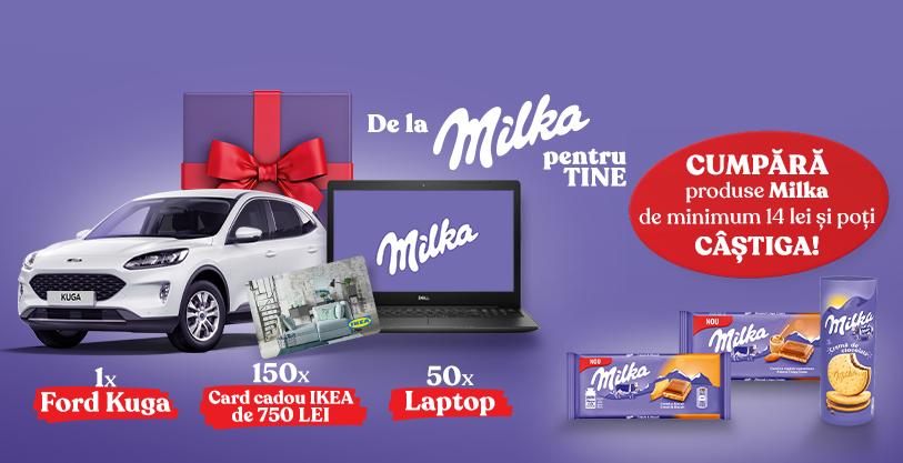 Concurs Milka - Castiga 1 Masina FORD KUGA - promotie - 2020 - castiga.net