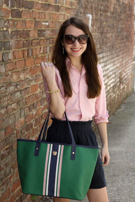 A Pink Green And Navy Casual Work Look Caralina Style