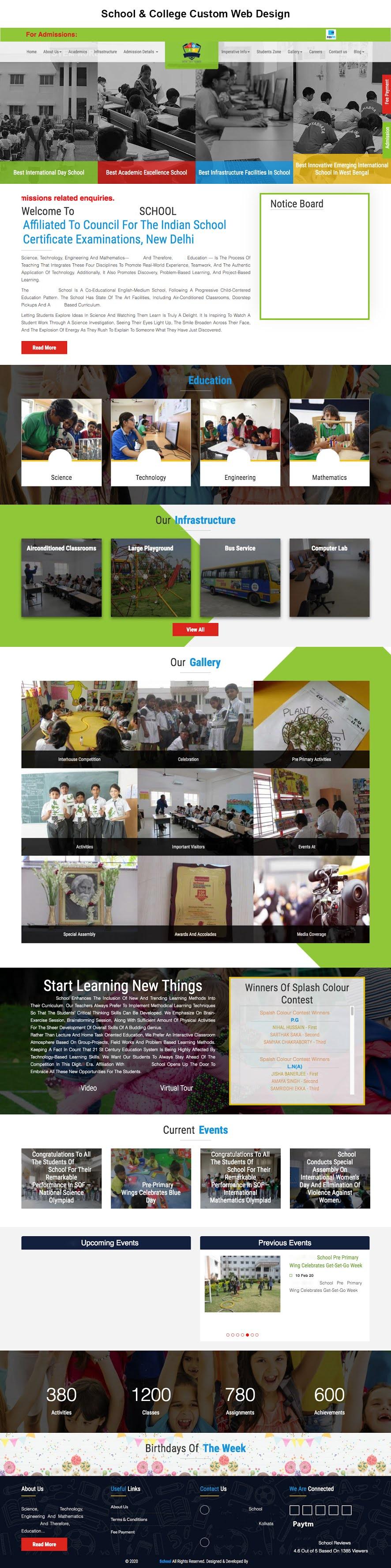 School & College Custom Web Design
