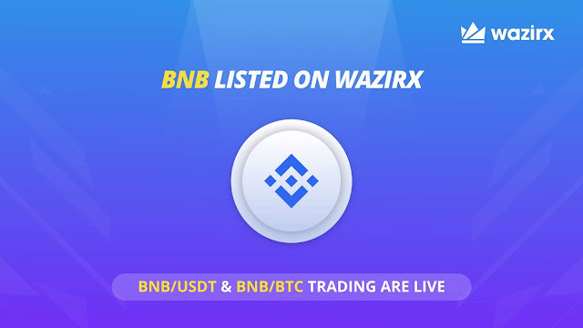 How to buy Binance Coin ( BNB ) from WazirX ?