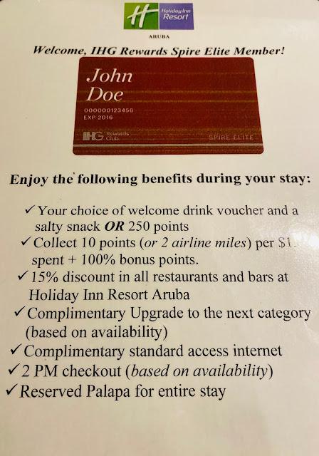 Review IHG Platinum and Spire Upgrade and Benefits at Holiday Inn Aruba Beach Resort and Casino