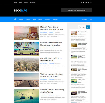Blogmag SEO Responsive Blogger Template