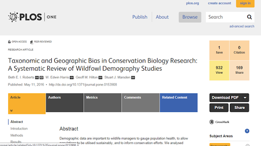 Wildfowl demography research - golden goose or lame duck?