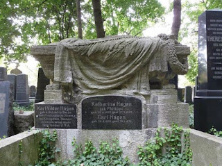 Hagen Family tomb in Berlin graves of Katharina (Philippi) Hagen & Carl (Levy) Hagen as well as their son Karl Victor Hagen (from SteelToys site - opens as a pdf)