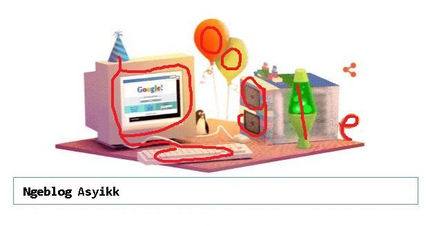 Logo Doodle Google Merayakan Ulang Tahun Ke 17