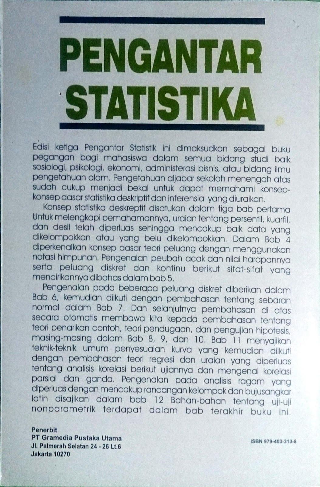 Ebook Pengantar Statistik Walpole