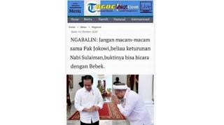 Benarkah Jokowi Disebut Sebagai Keturunan Nabi Sulaiman Karena Bisa Bicara Dengan Bebek?