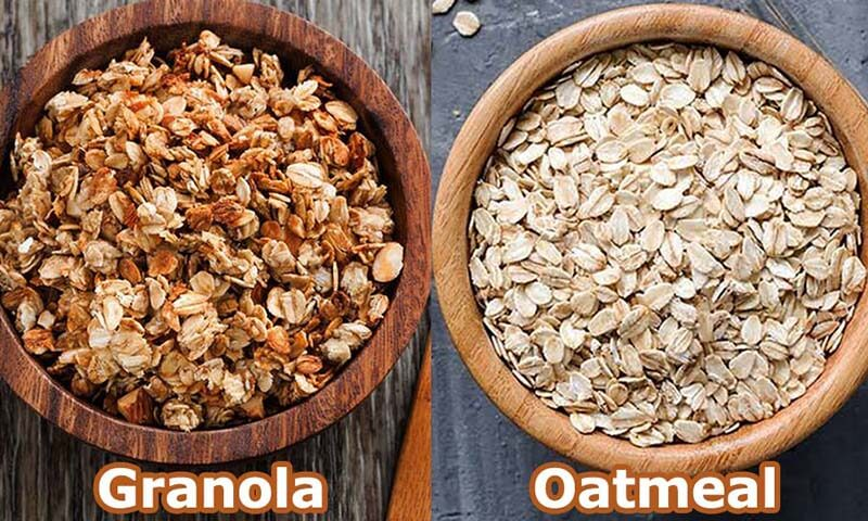 perbedaan granola vs oatmeal