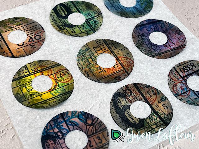 Gwen Lafleur PaperArtsy May 2021 Stamp Release - EGL17 Vintage Tickets - Stamped Stickers
