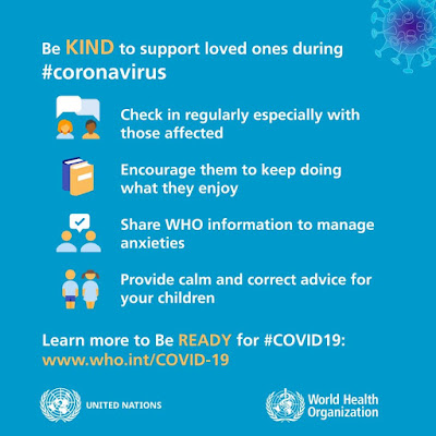 Support people during coronavirus WHO advice