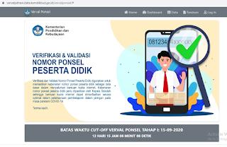 laman https://vervalpdnew.data.kemdikbud.go.id/vervalponsel/ .