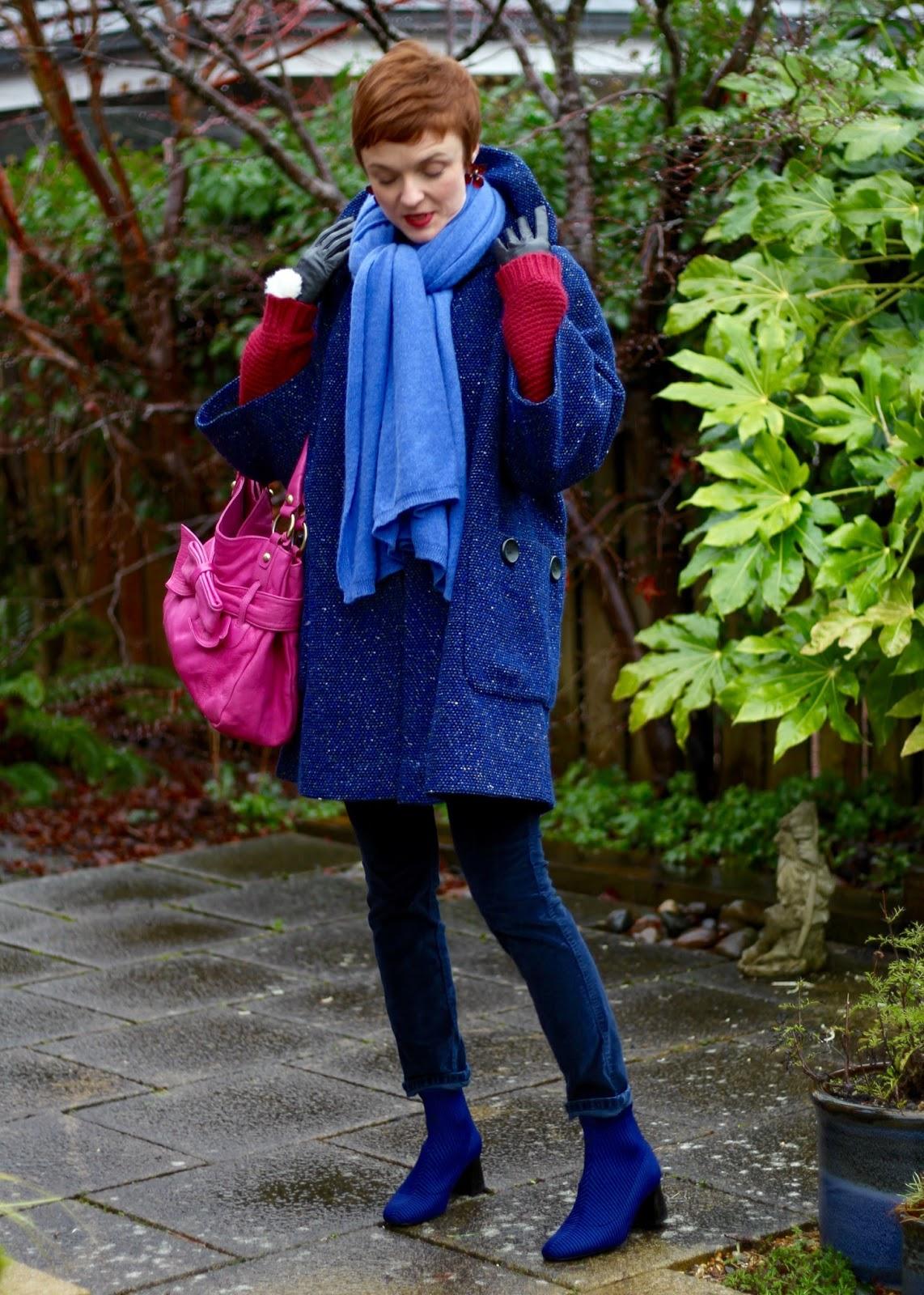 1950's Vintage Coat | Blue & Pink | Fake Fabulous