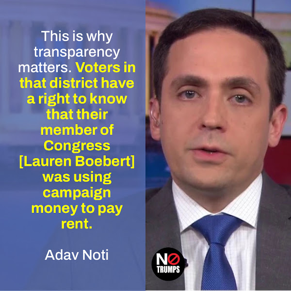 This is why transparency matters. Voters in that district have a right to know that their member of Congress [Lauren Boebert] was using campaign money to pay rent. — Adav Noti, Senior Director, Trial Litigation & Chief of Staff at the Campaign Legal Center (CLC)