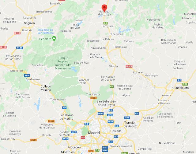 dónde está buitrago de lozoya en Madrid