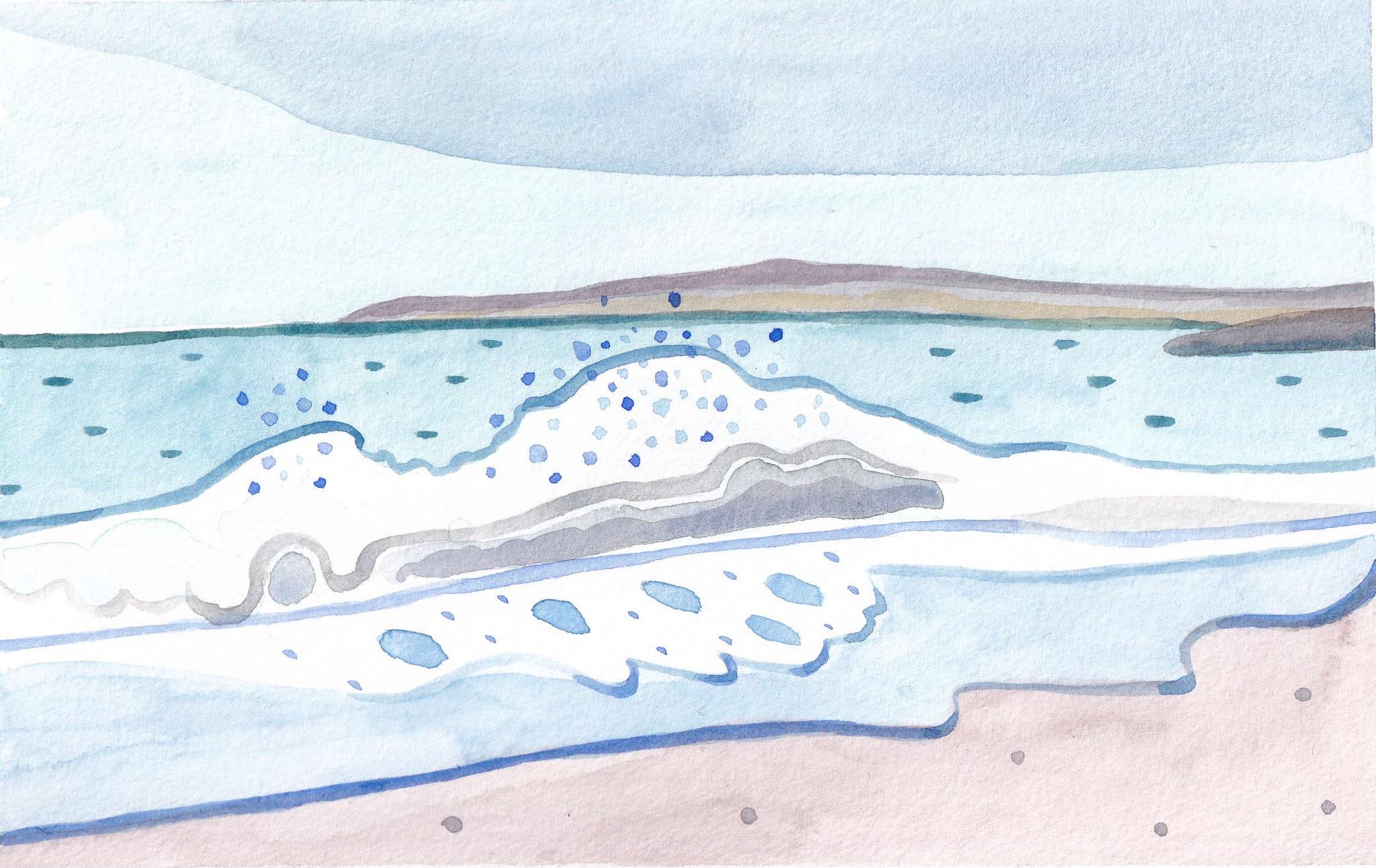 Crystal Crescent Wave by Kim Floyd