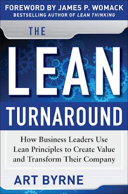 """Buchcover von Art Byrne """"The Lean Turnaround"""""""