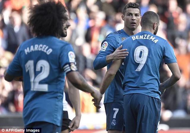 Video Valencia - Real Madrid: Ronaldo rực rỡ, phối hợp mãn nhãn