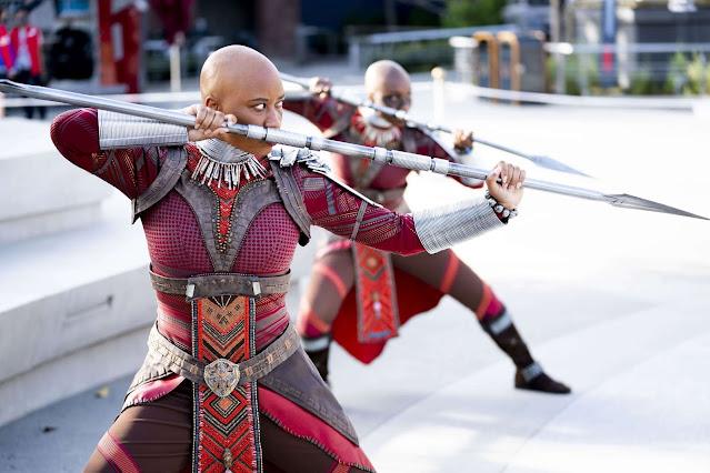 Marvel-Studios-Avengers-Campus-Disneyland-Opening-Wakanda-Black-Panther-loyal-bodyguards-Dora-Milaje