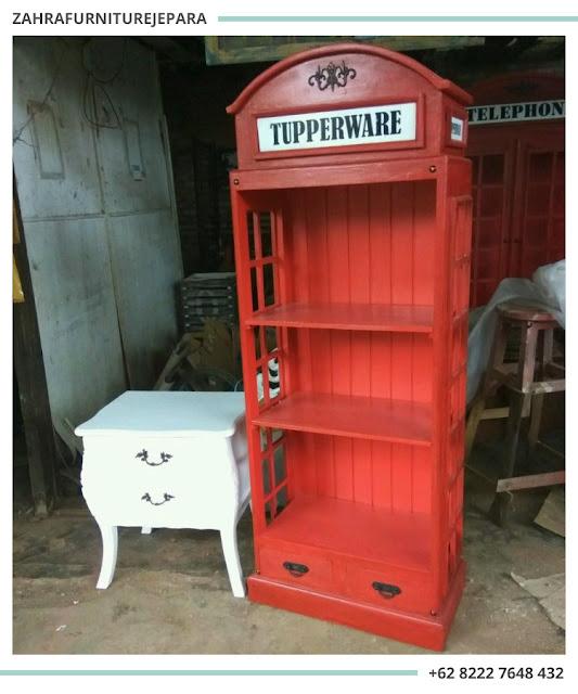 LEMARI RAK BUKU TELEPON LONDON INGGRIS / LEMARI TELEPHONE