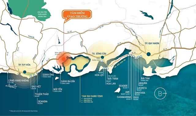 vị trí khu dân cư đồng mặn - phú yên