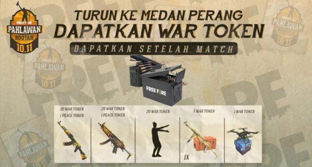 Cara Mendapatkan War Token Ammo Box dan Peace Emblem Event Pahlawan Booyah FF