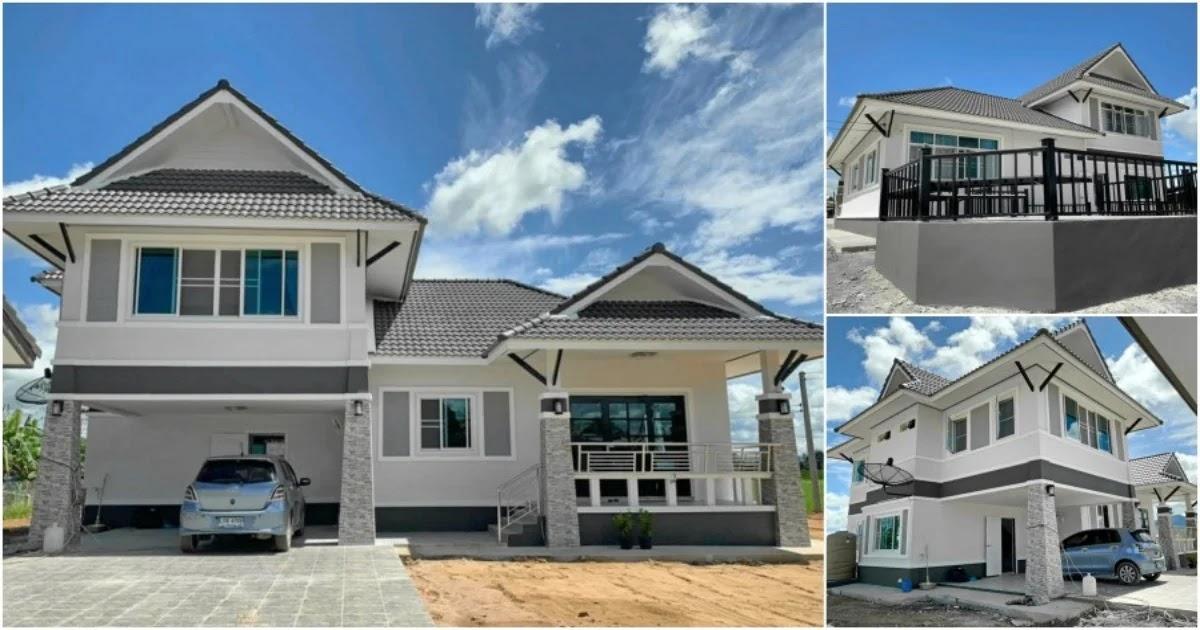 Hermoso diseño de casa moderna de estilo tailandés, adecuada para una familia numerosa