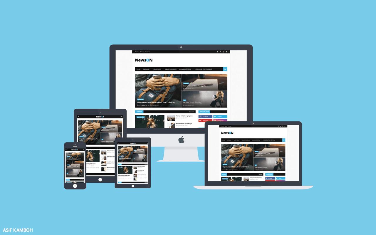 NewsON Premium Blogger Template