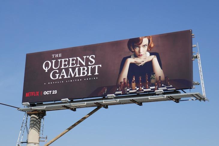 Queens Gambit series premiere billboard