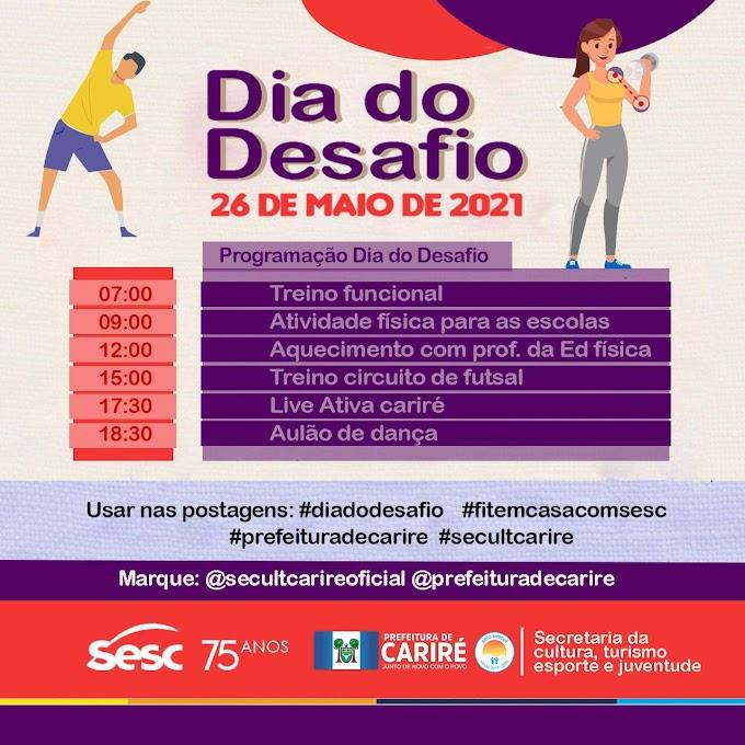 """Dia 26 de maio haverá o """"Dia do Desafio"""", para incentivar prática de atividades físicas; confira a programação"""