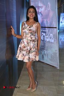Actress Madhu Shalini Stills in Floral Short Dress at RGV Shiva to Vangaveeti Event  0178.JPG