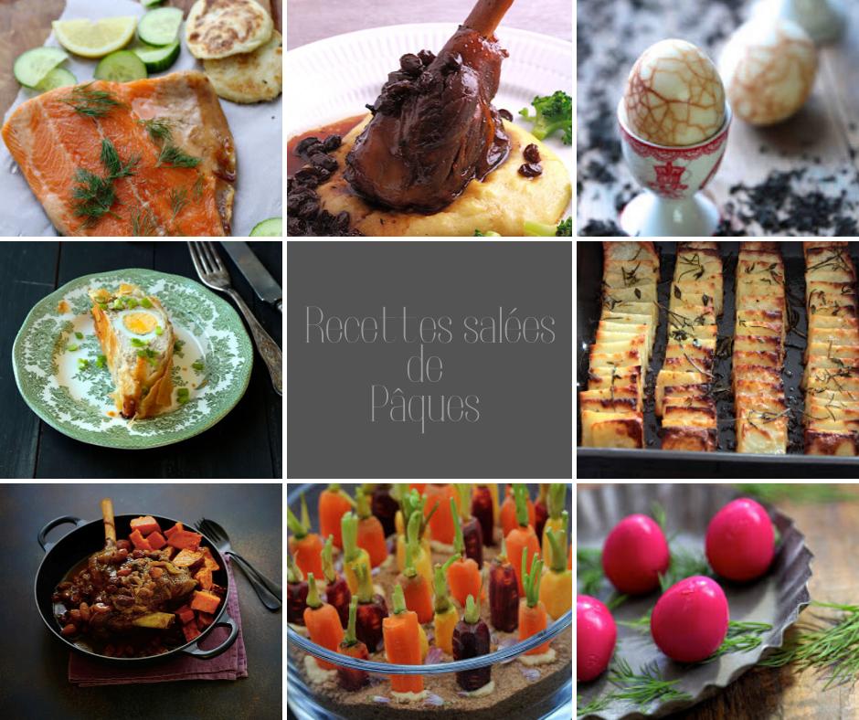 recettes salées , gourmandes pour Pâques , saumon , agneau , oeufs