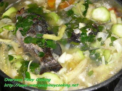 Dinengdeng with Inihaw na Tilapia - Cooking Procedure