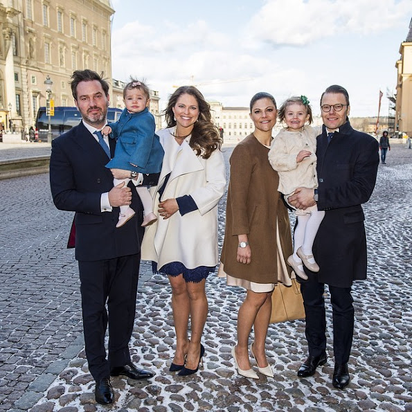 The Swedish Royal Family have celebrated the christening of Princess Christina's granddaughter Désirée at the Royal Chapel