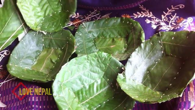 Fresh  Tapari टपरी Leaf plate