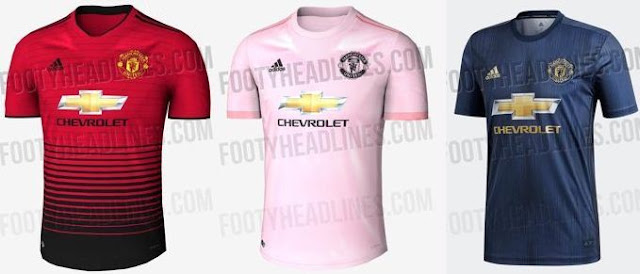 Bocoran Jersey Baru Manchester United Musim 2018-2019