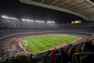 Camp Nou. – The home ground of FC Barcelona.