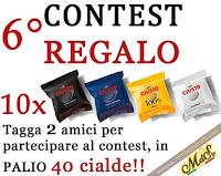 Logo Segui e vinci gratis 40 cialde caffè Giusto : come partecipare