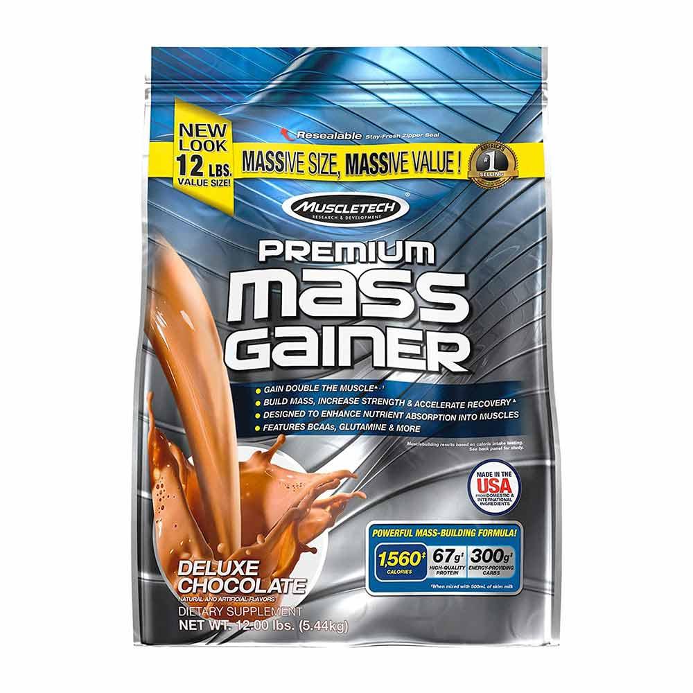 MuscleTech 100 % Premium Mass Gainer, 12 lb
