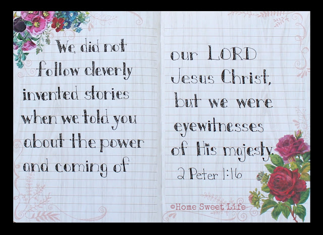 2 Peter 1:16, Scripture Writing