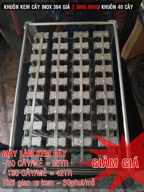 Bán khuôn inox máy làm kem cây 40 Que/mẻ giá rẻ HCM