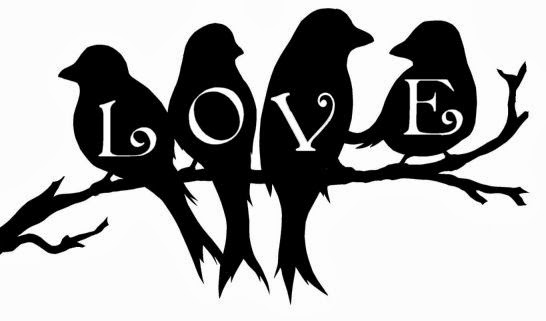 Love Birds on a branch Free SVG download for Valentine