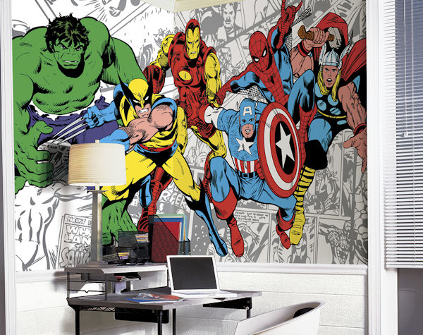 Wall Murals for Kids Room Marvel