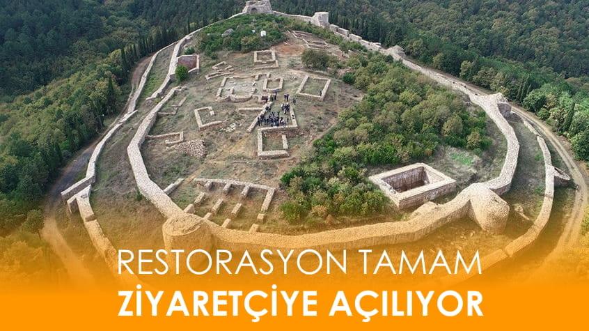 Tarihi Aydos Kalesi'nin 2010 yılında başlayan restorasyonu sonunda tamamlandı.