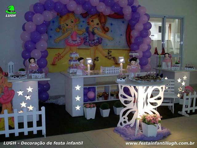 Festa infantil com tema Bailarinas em decoração provençal para aniversário realizado na Barra da Tijuca - RJ