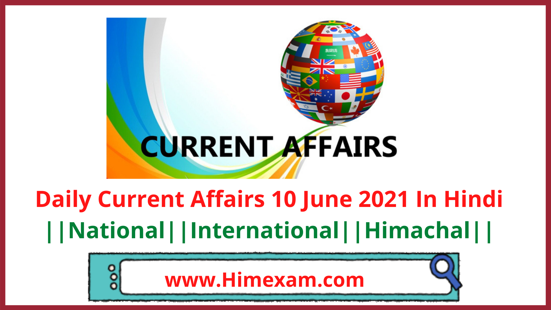 Daily Current Affairs 10 June 2021 In Hindi