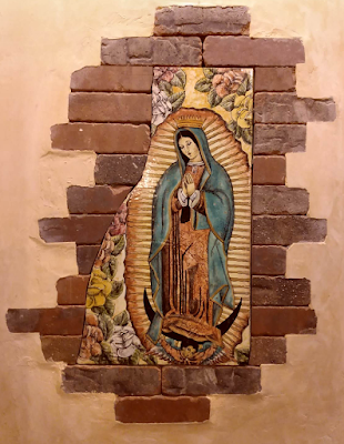 virgin of guadalupe mosaic